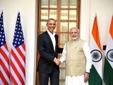 Prime Minister Narendra Modi meets former US President Barack Obama, in New Delhi on Dec 1, 2017.