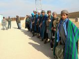PUL-E-KHUMRI, Nov. 11 Taliban fighters attend a surrender ceremony in Baghlan province, Afghanistan, Nov. 10, 2017. A total of nine Taliban fighters under Mullah Hafizullah Haqqani gave ...