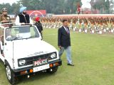 Punjab Chief Minister Captain Amarinder Singh observes the Guard of Honour during a Passing out Parade at Punjab Police Academy in Phillaur, Jalandhar on Feb 28, 2018.
