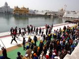 Punjab police personnel along with SGPC Task Force participate in full dress rehearsal at Golden Temple ahead of Canadian Prime Minister Justin Trudeau's visit to Amritsar on Feb 20, 2018.