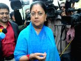 :Rajasthan Chief Minister Vasundhara Raje at the Parliament House in New Delhi on Dec.16, 2013. (Photo: IANS).