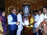 Rajasthan chief Minister Vasundhara Raje during her visit to Sai Baba temple in Shirdi, Maharshtra on Nov 27, 2017.