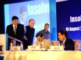 Reserve bank of India Governor Urjit Parel, Finance Minister Arun Jaitley, Insolvency and Bankruptcy Board of India chairman M. S. Sahoo and Securities and Exchange Board of India (Sebi) ...