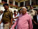 RJD chief Lalu Prasad Yadav arrives to appear before a special CBI court in connection with the multi-crore fodder scam case, in Ranchi on March 8, 2018.