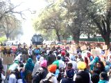 Sikhs participate in a protest march against 1984 anti-Sikh riots outside Congress leader Sonia Gandhi's residence in New Delhi on Feb 9, 2018.