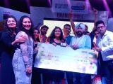 Daler Mehndi felicitates the winner of Radio City Super Singer Season 9