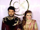 Kapil Sharma, Ginni Chatrath at their wedding reception