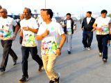 State Bank of India (SBI) chairman Rajnish Kumar participates in SBI Green Marathon in Mumbai on Feb 4, 2018.