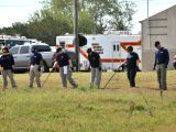 SUTHERLAND SPRINGS (U.S.), Nov. 6, 2017 FBI agents search for evidence near the church where a mass shooting occurred in Sutherland Springs, Texas, the United States, Nov. 6, 2017. ...
