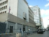 TEL AVIV, Dec. 7, 2017 - Photo taken on Dec. 7, 2017 shows the U.S. Embassy in Tel Aviv, Israel. U.S. President Donald Trump announced Wednesday his recognition of Jerusalem as the capital city of ...