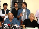 The Cine and TV Artistes Association (CINTAA) during the media meet organised to protest on Kiku Sharda`s arrest, writers, actors, and association members geared in large numbers to stand up ...