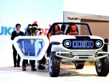 TOKYO, Oct. 25, 2017 - A Suzuki EV concept vehicle is displayed during the media preview of the Tokyo Motor Show in Tokyo, Japan, Oct. 25, 2017. The 45th Tokyo Motor Show will open to the public from ...