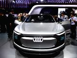 TOKYO, Oct. 25, 2017 - An Audi EV concept vehicle is displayed during the media preview of the Tokyo Motor Show in Tokyo, Japan, Oct. 25, 2017. The 45th Tokyo Motor Show will open to the public from ...