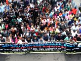 Trinamool Congress activists stage a protest against the murder of a Bengali laborer, Mohammad Afrajul in Kolkata on Dec 9, 2017. Mohammad Afrajul was brutally hacked to death and set on ...