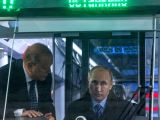 TVER (RUSSIA), Jan. 10, 2018 Russian President Vladimir Putin (R) inspects the cabin of a tram at the Tver Carriage Works in Tver, Russia, on Jan. 10, 2018. Inflation in Russia hit a ...