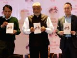 Union Commerce and Industries Minister Suresh Prabhu launches Kamlesh Patel's book 'The Heartfulness Way' in New Felhi.