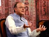 Union Finance Minister Arun Jaitley addresses at the 4th Global Business Summit in New Delhi on Feb 24, 2018.