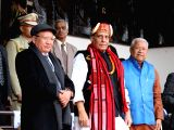 Union Home Minister Rajnath Singh attends Hornbill festival at Kisama Village in Kohima of Nagaland on Dec 8, 2017.