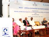 Union Minister for Petroleum and Natural Gas and Skill Development & Entrepreneurship Dharmendra Pradhan addresses at the inauguration of the India - Africa Knowledge Exchange Mission, ...