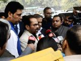 Union Minority Affairs Minister Mukhtar Abbas Naqvi comes out of the Election Commission in New Delhi on Jan 4, 2018. A BJP delegation led by him and Himanta Biswa Sarma met the Election ...