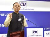 Union MoS Civil Aviation Jayant Sinha addresses at the Indian- Belgium Business Forum in collaboration with Confederation of Indian Industry (CII) and Federation of Belgian Enterprises in ...