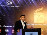 Union MoS Information and Broadcasting Rajyavardhan Singh Rathore addresses at the Confederation of Indian Industry (CII) Big Picture Summit in New Delhi on Dec 6, 2017.