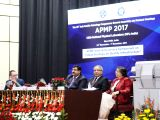 "Union Science and Technology Minister Harsh Vardhan addresses at the inauguration of a symposium on ""Indian Strategy for Quality Infrastructure"" during the 33rd Asia Pacific Metrology ..."