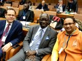 United Nations Secretary-General's Special Adviser on the Prevention of Genocide Adama Dieng and Deva Samskriti Viswavidyalaya Vice-Chancellor Dr. Chinmaya Pandya at UN headquarters in ...