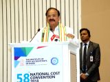 Vice President, M.Venkaiah Naidu addresses at the 58th National Cost Convention, in New Delhi on March 16, 2018.