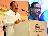 Vice President M. Venkaiah Naidu addresses during a programme - Building a New India organised by the FICCI Ladies Organization in Hyderabad on Nov 4, 2017.