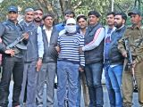 Wanted Indian Mujahideen (IM) terrorist Ariz Khan alias Junaid, in police custody in New Delhi on Feb 14, 2018. Personnel of the Delhi Police Special Cell on Wednesday arrested Khan from ...