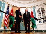 WASHINGTON, Jan. 18, 2018 - U.S. Secretary of State Rex Tillerson (R) meets with Jordanian Foreign Minister Ayman Safadi at the State Department in Washington D.C., the United States, on Jan. 18, ...