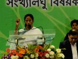 West Bengal Chief Minister Mamata Banerjee addresses during a programme organised to present awards and scholarships to minorities in Kolkata, on Dec 5, 2017.