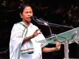 West Bengal Chief Minister Mamata Banerjee addresses during a rally to observe Dr. B R Ambedkars 61st death anniversary in Kolkata on Dec 6, 2017.