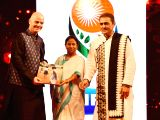 West Bengal Chief Minister Mamata Banerjee and All India Football Federation (AIFF) President Praful Patel with FIFA President Gianni Infantino during a party in Kolkata on Oct 27, 2017.
