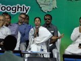 West Bengal Chief Minister Mamata Banerjee during an administrative meeting at Gurap in state's Hooghly district of the state on March 20, 2018.