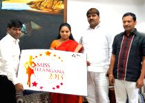 Hyderabad: Miss Telangana 2015 Official Logo Launch by Smt. K. Kavitha