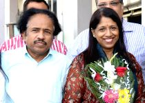 Jodhpur: Kavita Krishnamurthy arrives at Jodhpur Airport