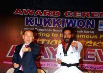 Mumbai: Taekwondo Masters from Korea felicitate Ajay Devgan