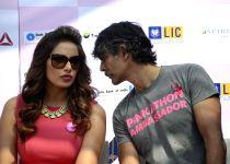 Mumbai: Bipasha, Milind at Pinkathon press conference