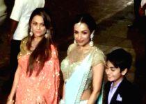 Mumbai: Malaika Arora Khan at wedding reception of Arpita