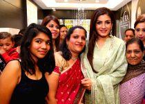 New Delhi: Raveena Tandon at the inauguration of a showroom