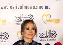 US singer Jennifer Lopez in Rabat