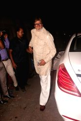 Actor Amitabh Bachchan during Diwali party hosted by Javed Akhtar and Shabana Azmi at their residence in Mumbai on Oct 18, 2017.