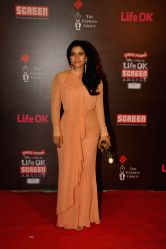 Actor Kajol Devgan during the 20th Annual Life OK Screen Awards in Mumbai, on January 14, 2014.