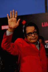 Actor Manoj Kumar during the 20th Annual Life OK Screen Awards in Mumbai, on January 14, 2014.