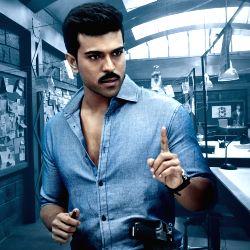 Actor Ram Charan stills from Telugu film `Dhruva`.