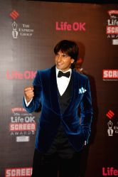 Actor Ranveer Singh during the 20th Annual Life OK Screen Awards in Mumbai, on January 14, 2014.