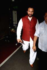 Actor Saif Ali Khan spotted at Chhatrapati Shivaji Maharaj International airport in Mumbai on Oct 4, 2017.