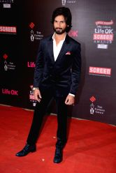 Actor Shahid Kapur during the 20th Annual Life OK Screen Awards in Mumbai, on January 14, 2014.